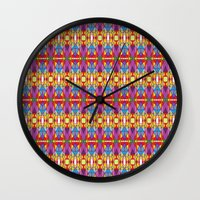dna Wall Clocks featuring DNA by Katherine Farah