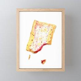 Watercolor Strawberry Pop Tart Framed Mini Art Print