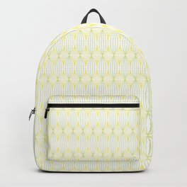 Yellow & Green Tangled Lines Pattern Backpack