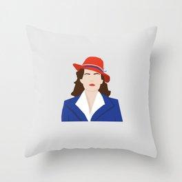 Agent Carter Vector Throw Pillow