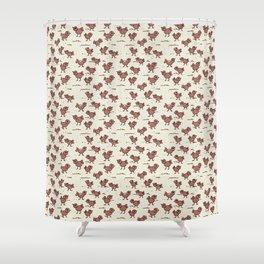 A Cranky Flock Shower Curtain