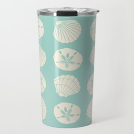 Sea Shells Light Green Travel Mug