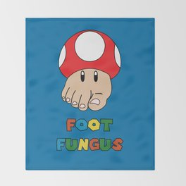 Foot Fungus Throw Blanket