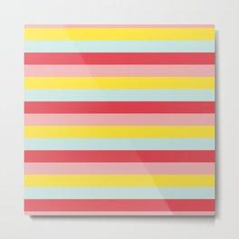 Pastel Stripes Metal Print
