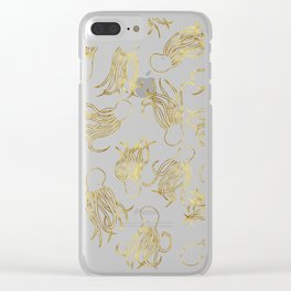 Gold Squid (Mint) Clear iPhone Case