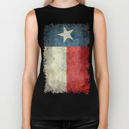 Texas state flag, Vintage banner version Biker Tank