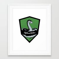 slytherin Framed Art Prints featuring Slytherin Bitches! by Emma Ehrling