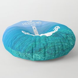 Hebrews Anchor Ocean Floor Pillow