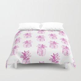 Pink Power Pineapple Duvet Cover