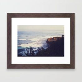 Morning Beach Framed Art Print