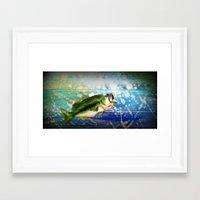 bass Framed Art Prints featuring Bass by Christina Miller