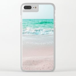 Faded Ocean Clear iPhone Case