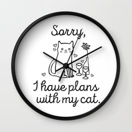 Cat Plans Wall Clock