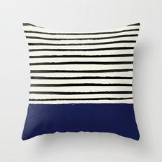 Navy x Stripes Throw Pillow