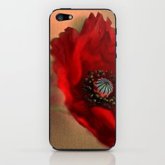 Poppies(romantic). iPhone & iPod Skin