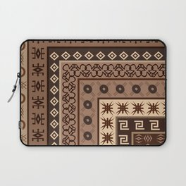 Background with African motifs Laptop Sleeve