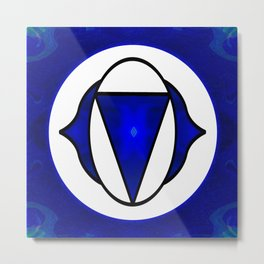 Deep Blue Awareness Abstract Chakra Art  Metal Print