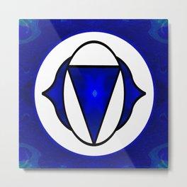 Deep Blue Awareness Abstract Chakra Art  Metal Print