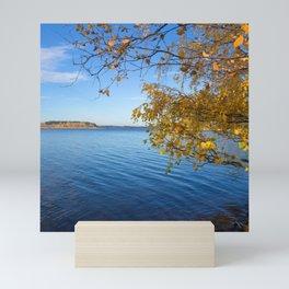 Autumn Lake Landscape #decor #society6 #buyart Mini Art Print