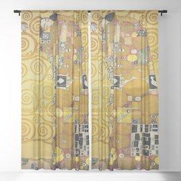 The Embrace - Gustav Klimt Sheer Curtain