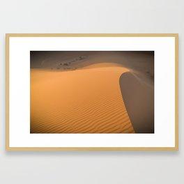 Trekking the Saharan in Morocco Framed Art Print