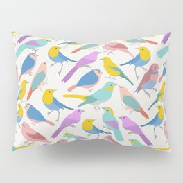 Dazzling Colored Bird Pattern Pillow Sham