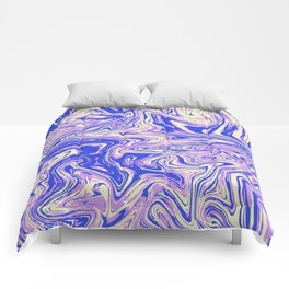 Purple marble with raspberry tint Comforters