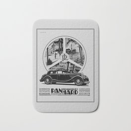 Panhard 1936 classic French art deco auto Bath Mat