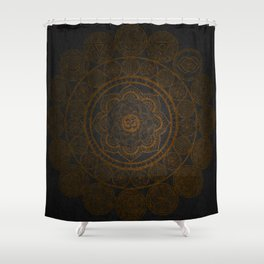 Circular Connections Copper Shower Curtain