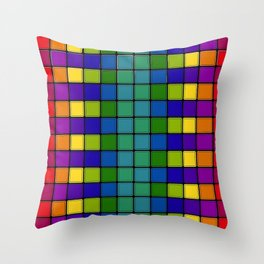 Out of Focus Chex Throw Pillow