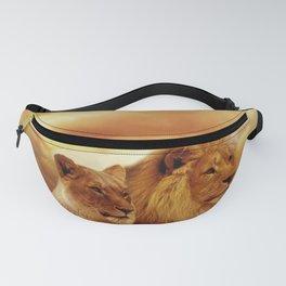 Lion couple | Couple de Lion Fanny Pack