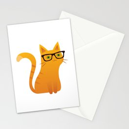 Cute cat with sunglasses Stationery Cards