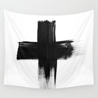 cross Wall Tapestries featuring Cross by RK // DESIGN