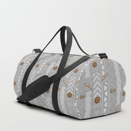 Scarves Knitted Buttoned - Gray Duffle Bag