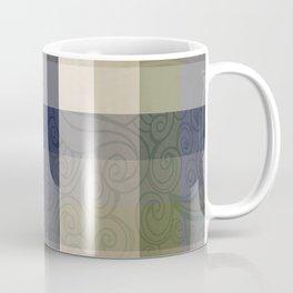 Chambray Fiord Swirly Plaid Coffee Mug