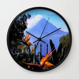 Lago Atitlan, Guatemala Wall Clock