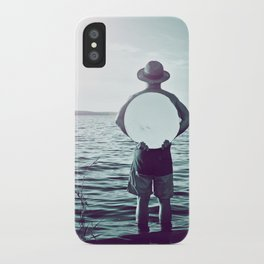 L'homme au miroir iPhone Case