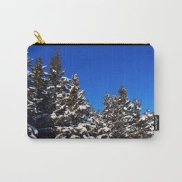 Winter Greens and Blue Sky Carry-All Pouch