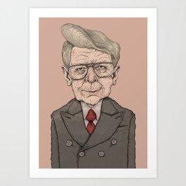 Icelandic President - Ólafur Ragnar Grímsson Art Print