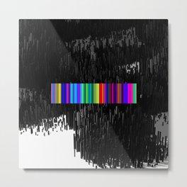 Colorful bar code Metal Print