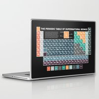 periodic table Laptop & iPad Skins featuring Periodic Table of Supernatural Beings by Sarah