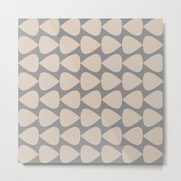 Plectrum Pattern in Putty and Gray Metal Print