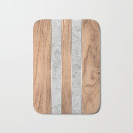 Wood Grain Stripes Concrete #347 Bath Mat