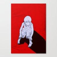 dexter Canvas Prints featuring Dexter by MRCRMB