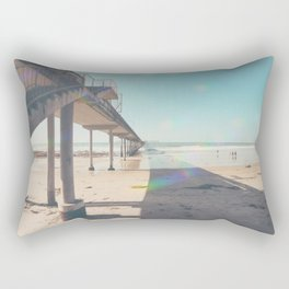 Scripps Pier Ocean Beach San Diego Rectangular Pillow