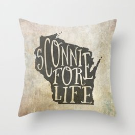 Sconnie for Life Throw Pillow