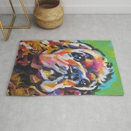 fun American Cocker Spaniel bright colorful Pop Art painting by Lea Rug