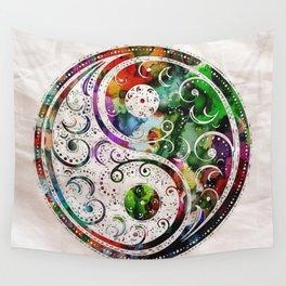 Yin and Yang Balance Poster Print by Robert R Wall Tapestry