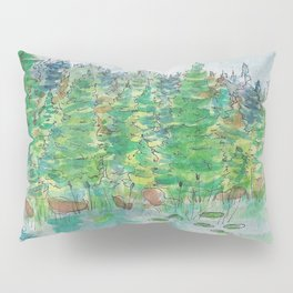 Watercolour - Lake, St. John's, Newfoundland 2 Pillow Sham