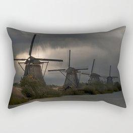 Dutch Windmills in Kinderdjik Rectangular Pillow